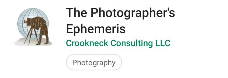 Photographer's Ephemeris App for Moon Photography