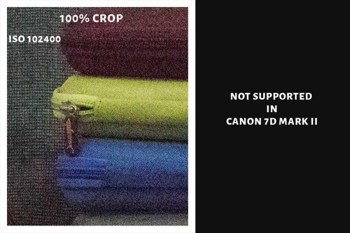 102400 ISO CANON 1DX MARK II