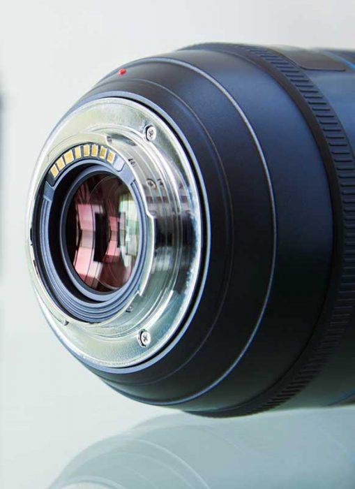 Camera Lens Contacts Close up