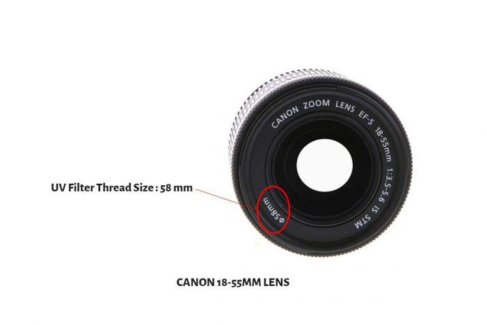 Canon 18-55mm Lens-58mm UV Filter