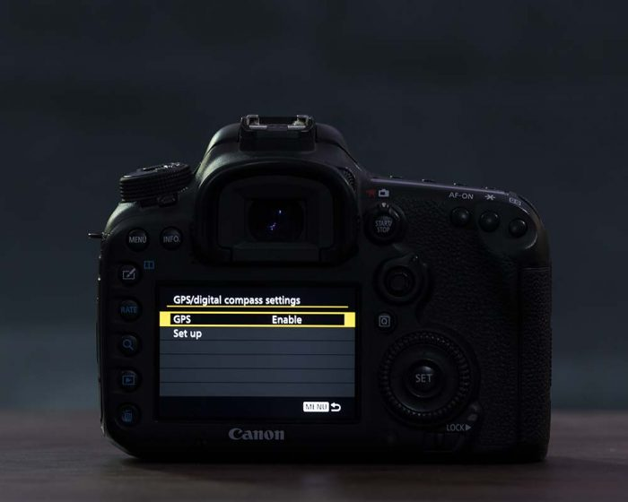 Canon Geotag settings