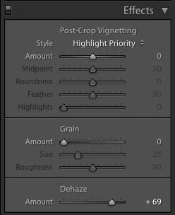 Lightroom Dehaze Slider