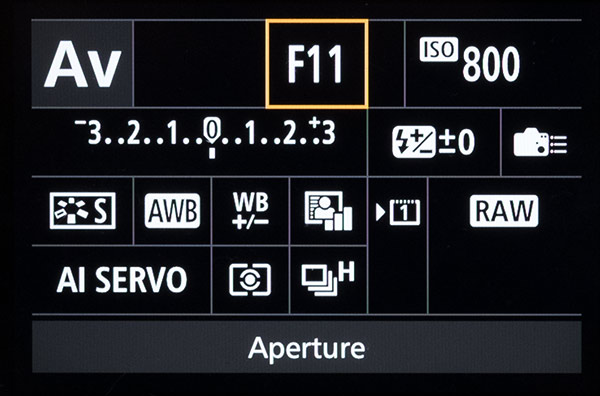 Aperture Priority Mode in Canon 7D Mark II