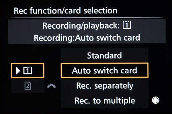 Auto Switch Card Options