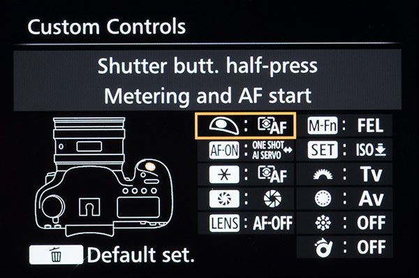 Custom Control Settings