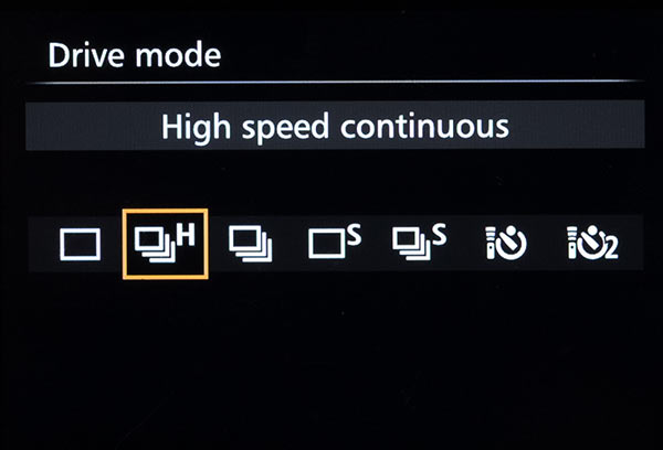 Camera Drive Mode Settings
