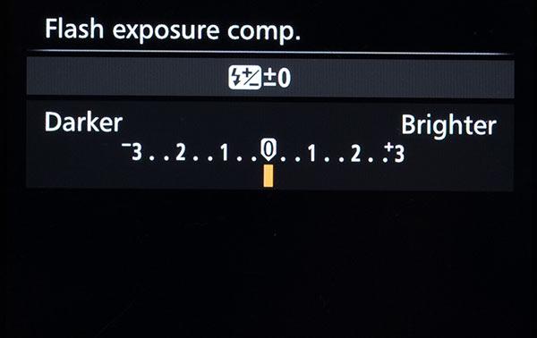 Flash Exposure Compensation Slider