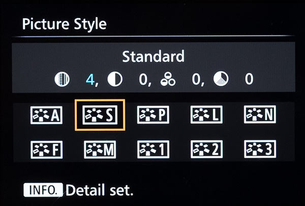 Picture Style Settings