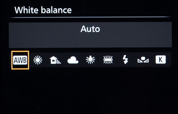 White balance Settings