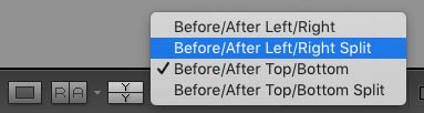 Lightroom Before and After Options