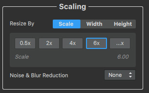 AI Gigapixel Scaling Settings