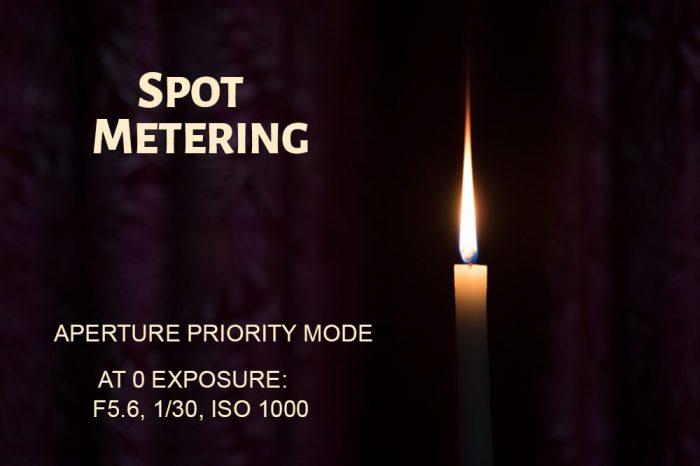 Spot Metering Mode Example