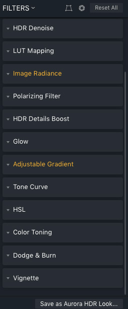 Aurora HDR 2019 Settings
