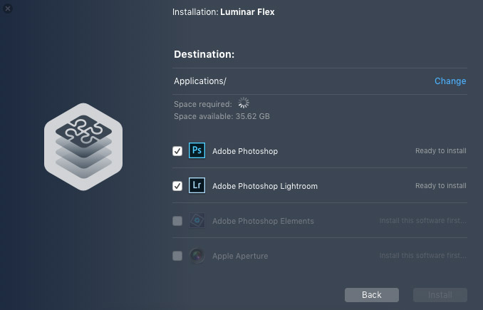 Luminar Flex Plugin Installation