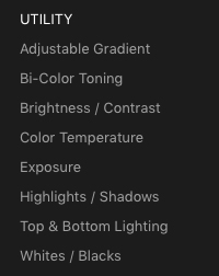 Utility Filters in Luminar 3