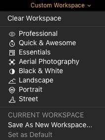 Luminar 3 Workspace