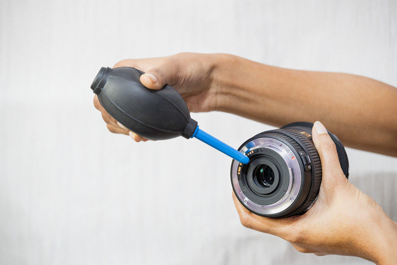 Air Blower to clean camera lens backside