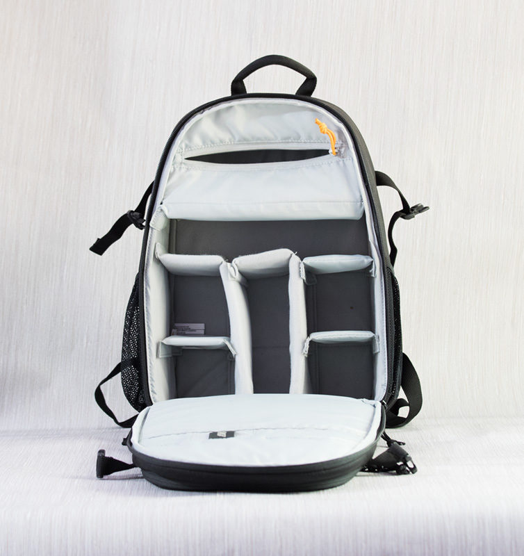 Internal Compartments of Lowepro Tahoe BP 150 Camera Bag