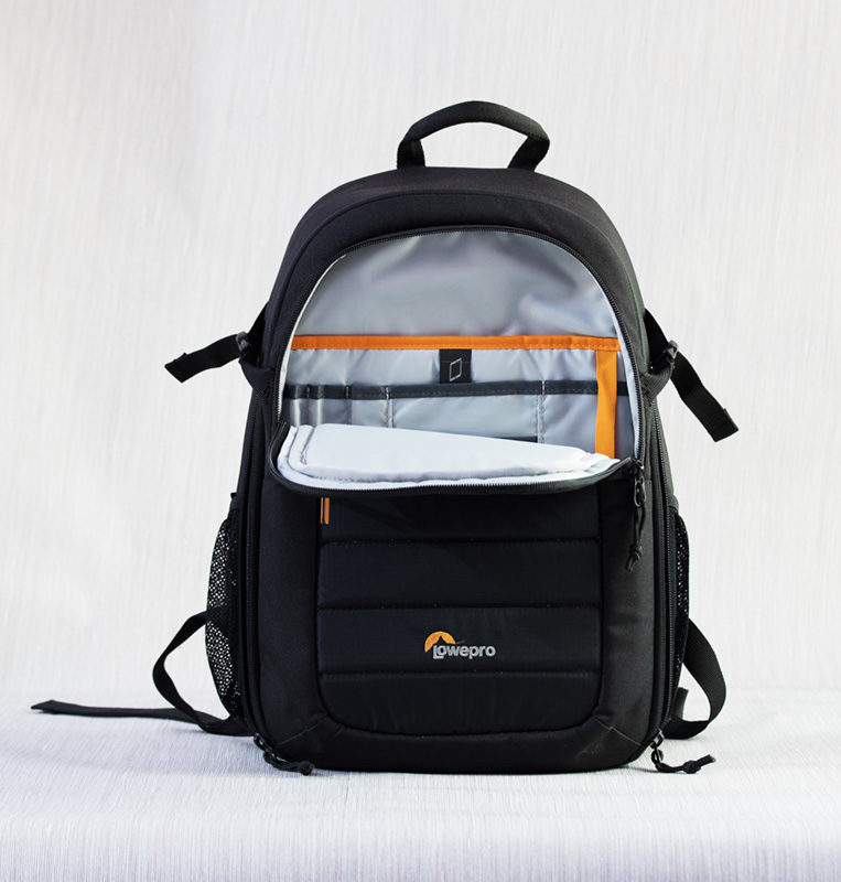Front side of Lowepro Tahoe BP 150 Camera Bag