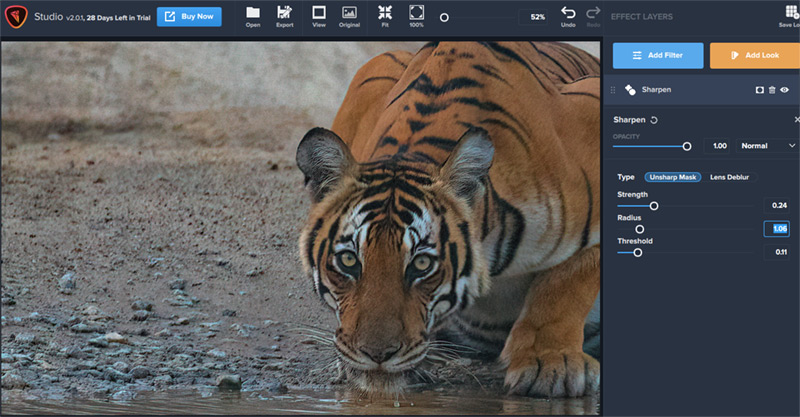 Image Sharpening in Topaz Studio 2