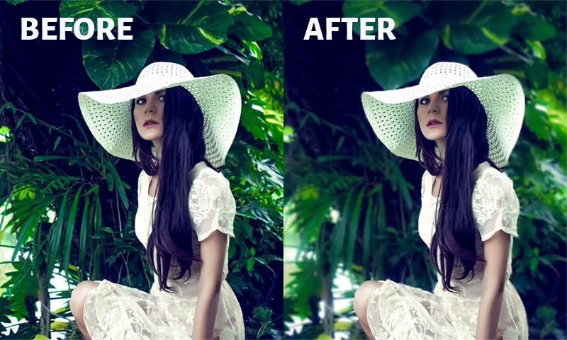 Background Blur in Lightroom-Before After Image