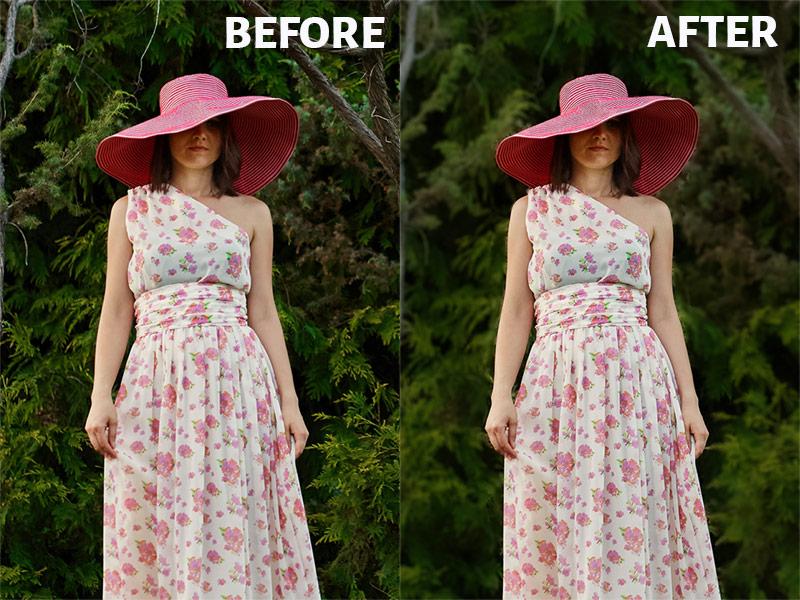 Background Blur in Lightroom Before After Image