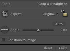 Lightroom Crop and Straighten Settings