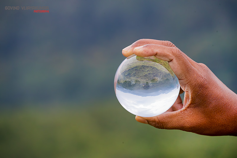 Crystal Ball refraction Photography