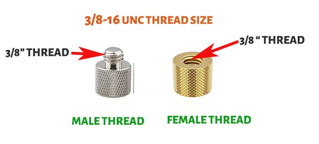 3by8 16 UNC Thread Size