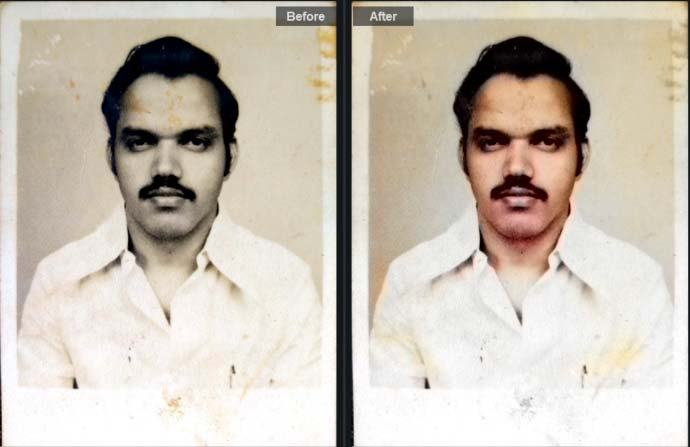 Automatic AI Colorization- Before After Image