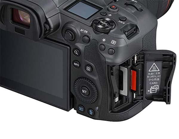 Dual Memory Card Slots in Camera