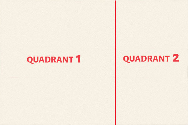 Frame into Quadrants