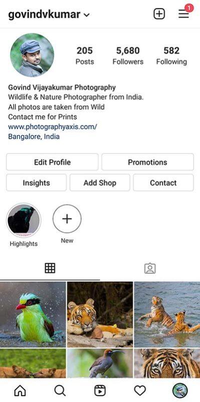 Govind Vijayakumar Instagram Page