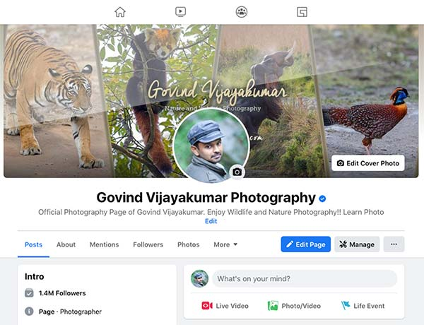 Govind Vijayakumar Photography Facebook Page