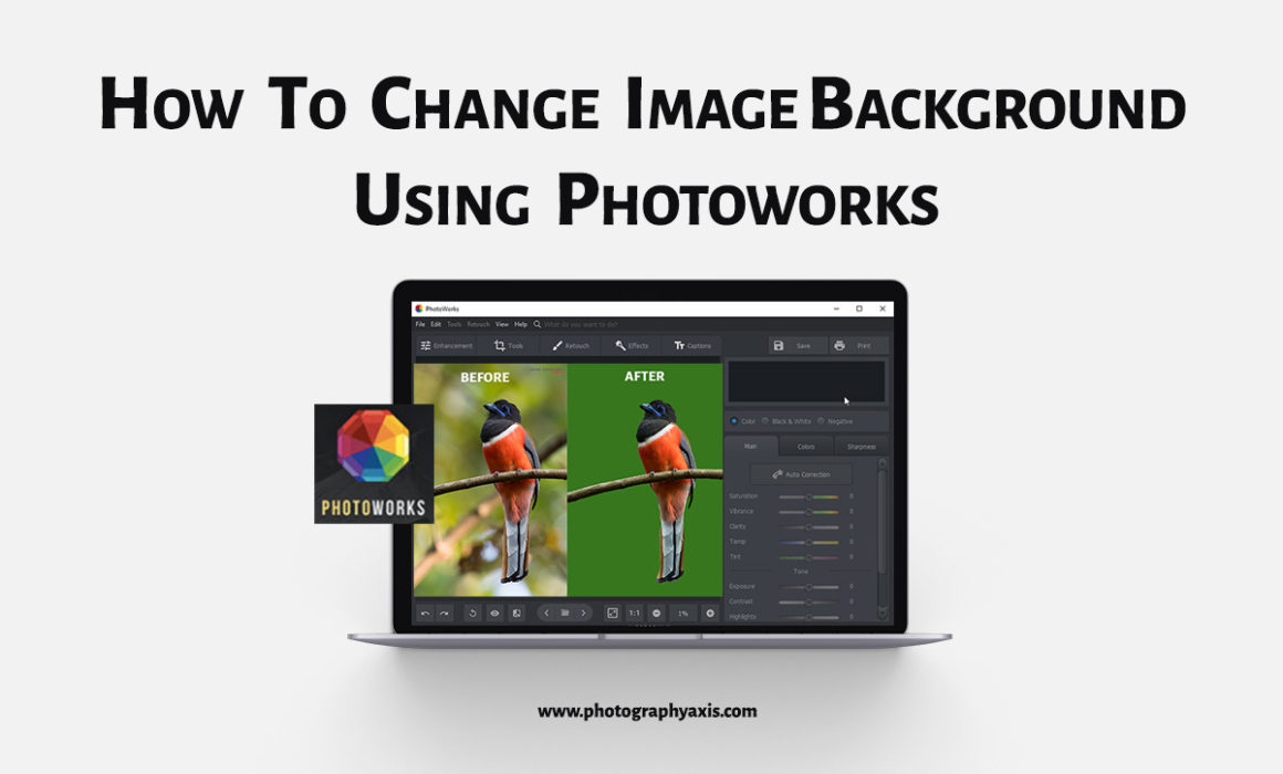How to change photo background using photoworks