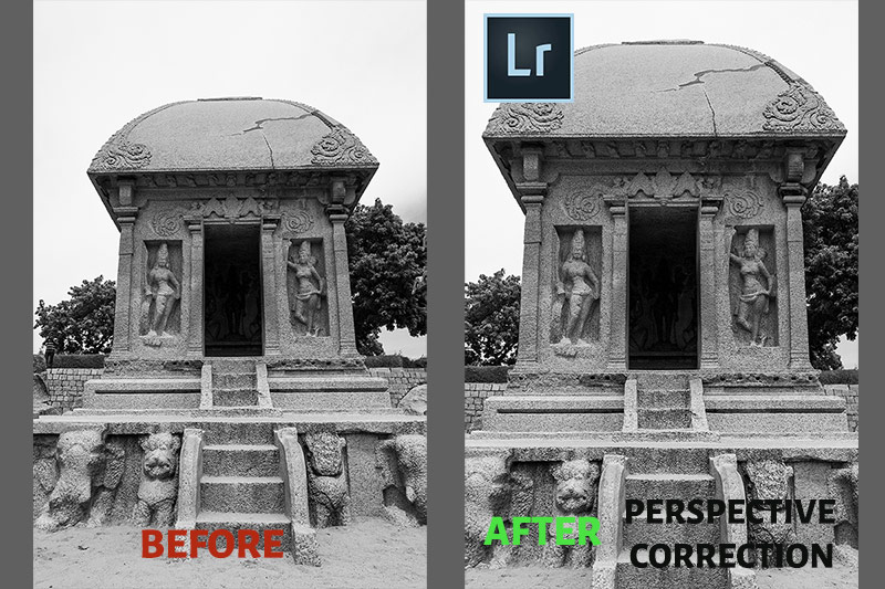 Lightroom Before After Perspective Correction