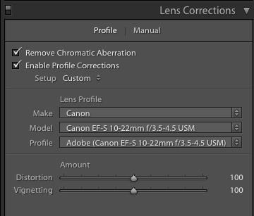 Lens Correction in Lightroom