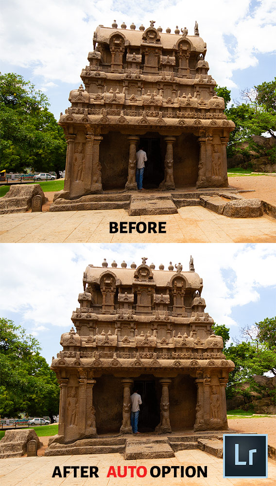 Lightroom Before After Perspective Correction-Auto Option