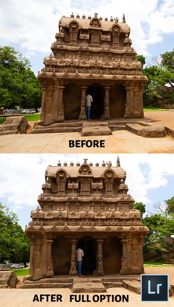Lightroom Before After Perspective Correction-Full Option