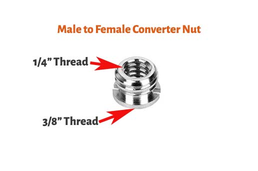 Male to Female Converter Nut
