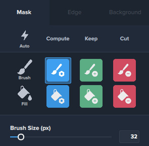 Mask Edit Options in Topaz Mask AI