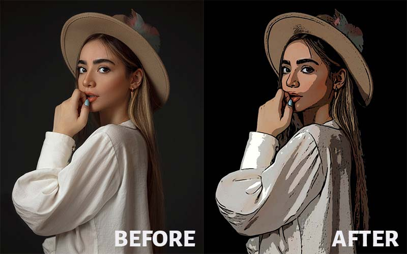 Photo to Comic Book Art-Before After