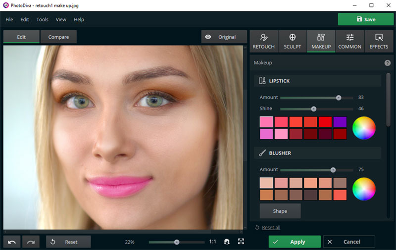 Photodiva Pro Makeup Option