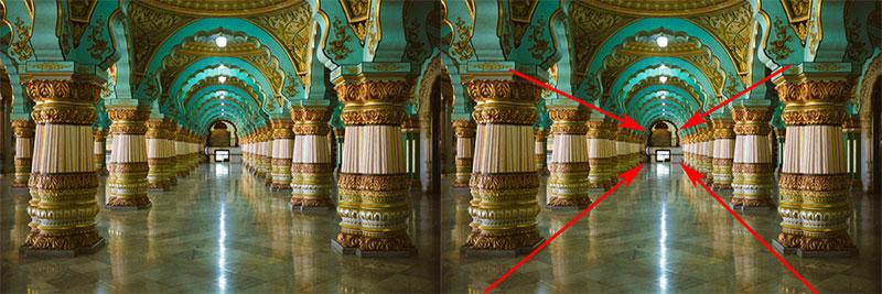 Pillars Leading lines