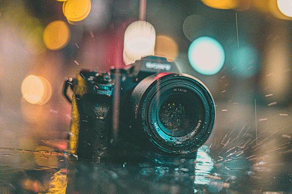 camera in rain