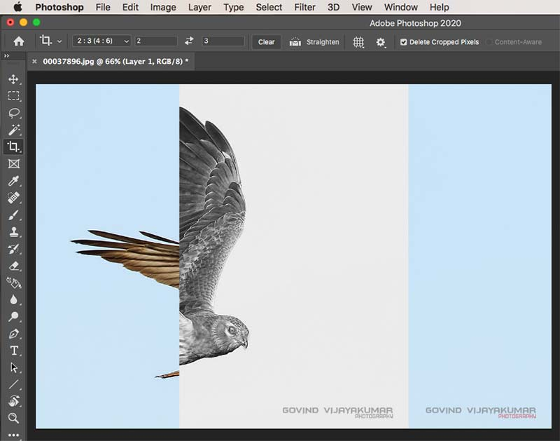 how to crop a single layer in Photoshop-method1