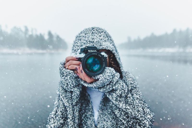 woman doing photography